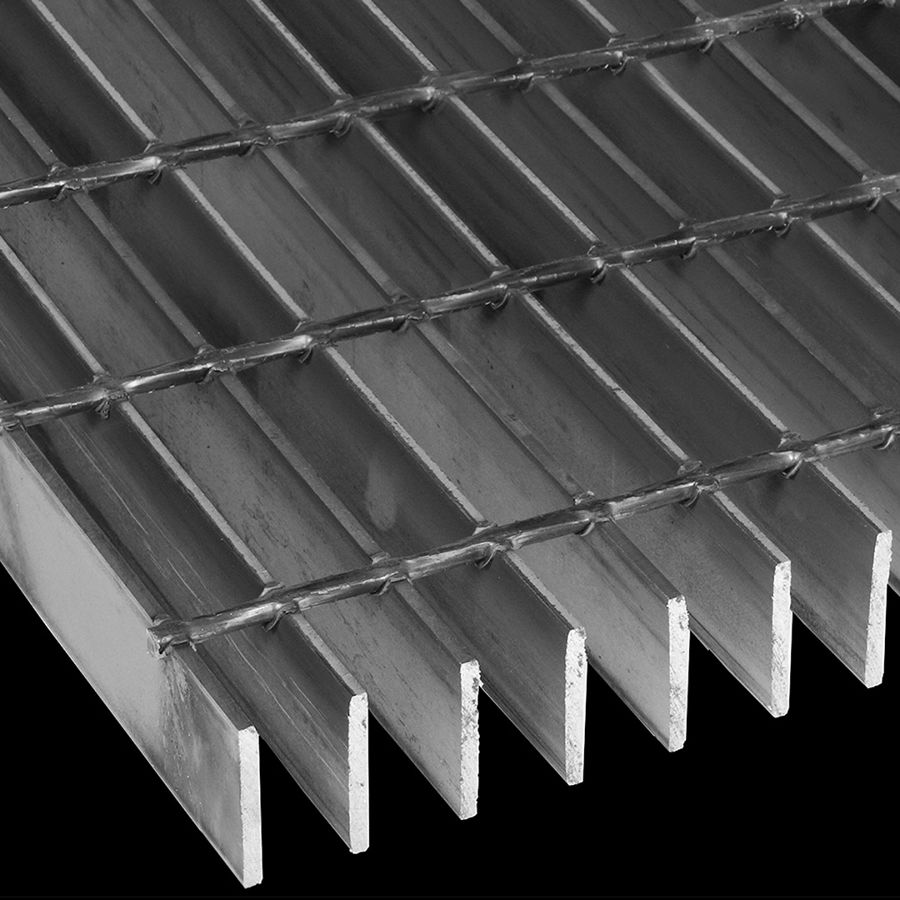 "McNICHOLS® Bar Grating Welded, GW-200, 19-W-4 Spacing, Carbon Steel, Hot Rolled, 2"" x 3/16"" Rectangular Bar, Smooth Surface, 77% Open Area"