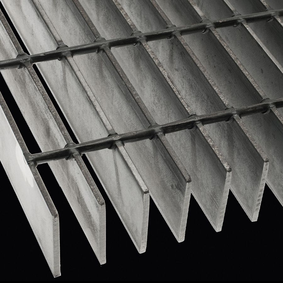 "McNICHOLS® Bar Grating Welded, Rectangular Bar, GW-250, 19-W-4 Spacing, Carbon Steel, Hot Rolled, 2-1/2"" x 3/16"" Rectangular Bar, Smooth Surface, 77% Open Area"
