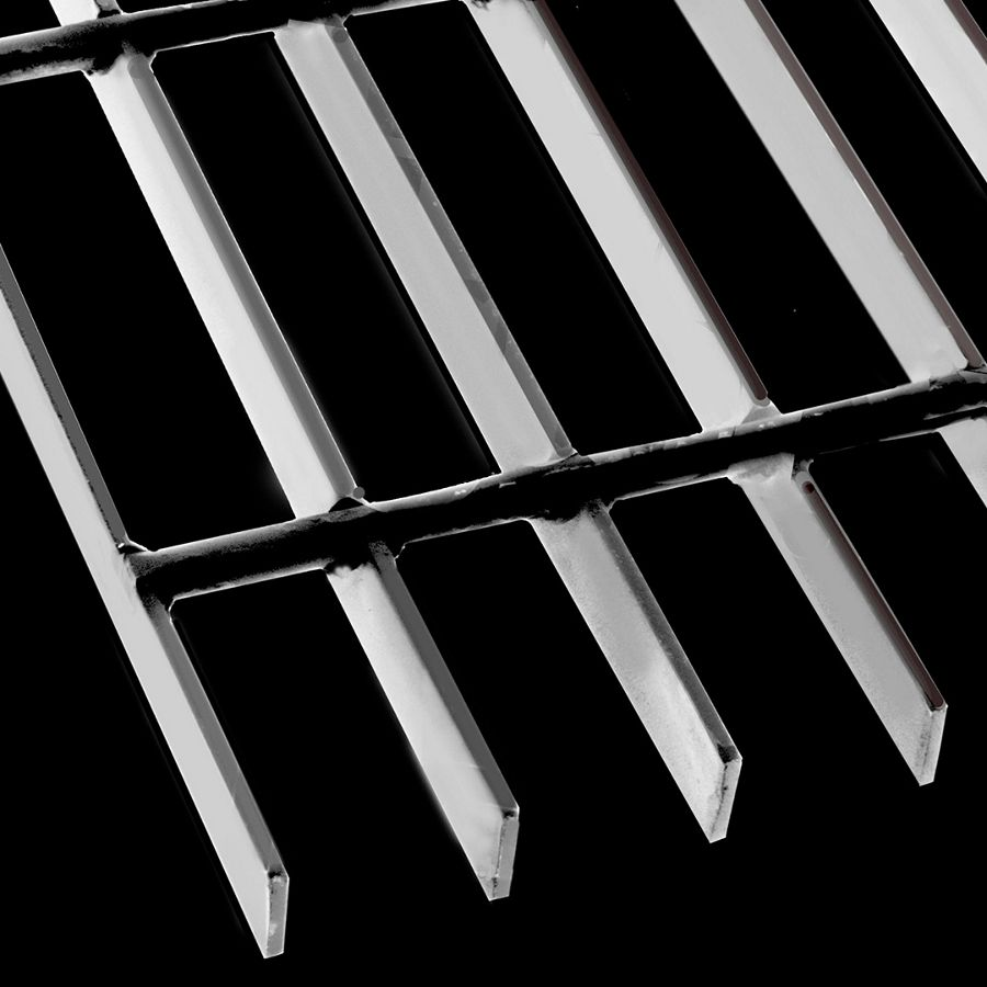 "McNICHOLS® Bar Grating Welded, Rectangular Bar, GW-75-A, 19-W-4 Spacing, Carbon Steel, Hot Rolled, 3/4"" x 1/8"" Rectangular Bar, Smooth Surface, 83% Open Area"