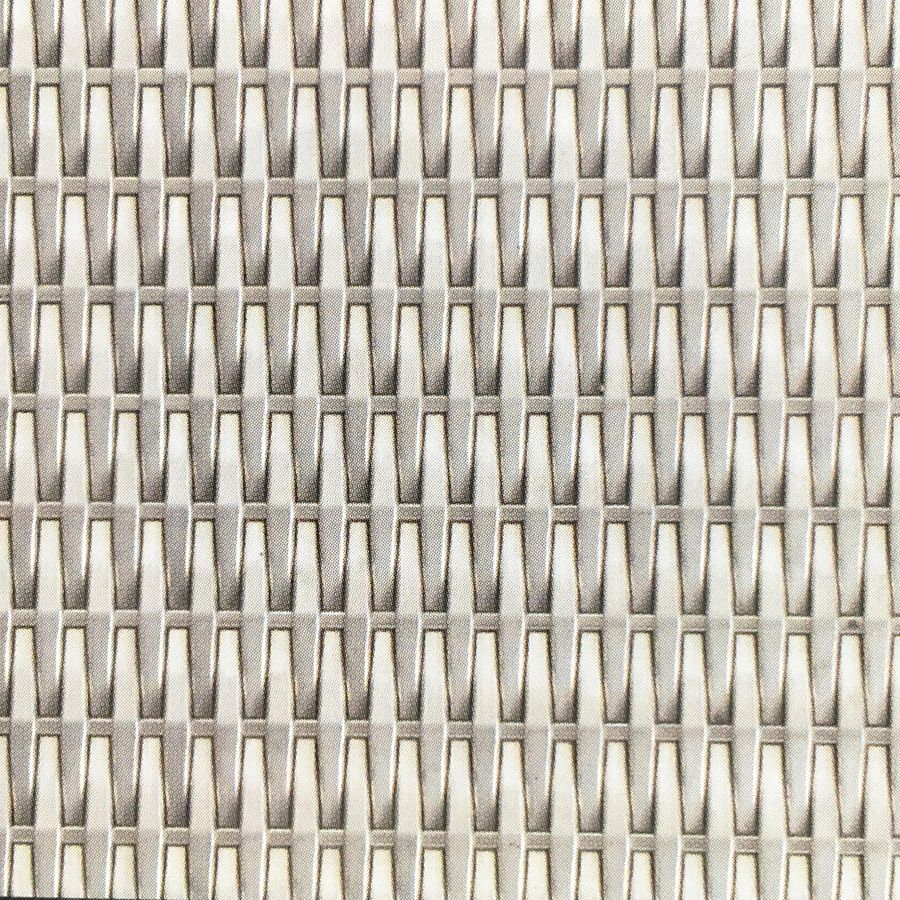 McNICHOLS® Wire Mesh Designer Mesh, SHIRE™ 2138, Stainless Steel (SS), Type 316, Woven - Flat Top Cladding Weave, 0% Open Area