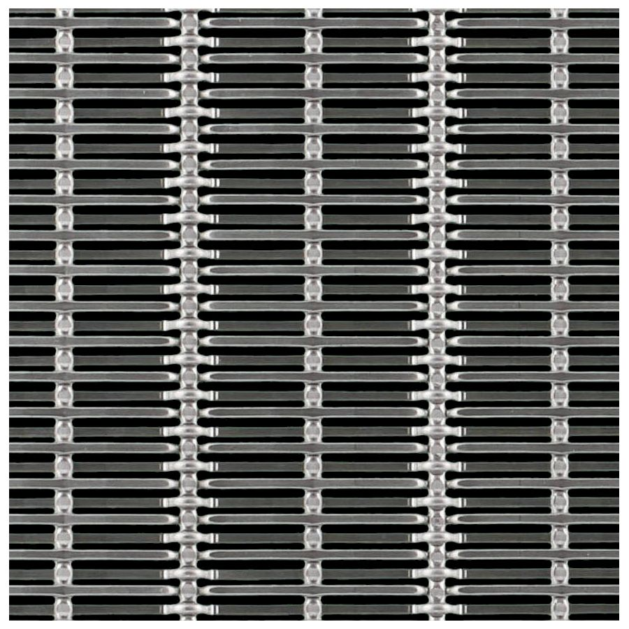 McNICHOLS® Wire Mesh Designer Mesh, SHIRE™ 2141, Stainless Steel (SS), Type 316, Woven - Hollow Center Dutch-Style Weave, 32% Open Area
