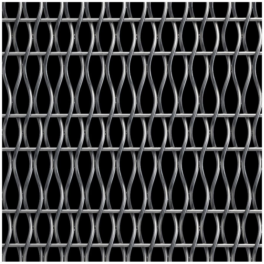 McNICHOLS® Wire Mesh Designer Mesh, HALO™ 2156, Stainless Steel, Type 316, Woven - Helical (Spiral) Crimp Weave, 57% Open Area