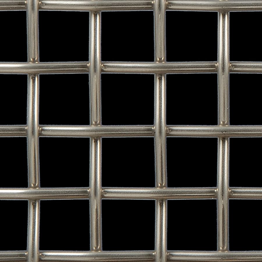McNICHOLS® Wire Mesh Designer Mesh, TECHNA™ 3100, Stainless Steel (SS), Type 316, Woven - Plain Weave, 65% Open Area
