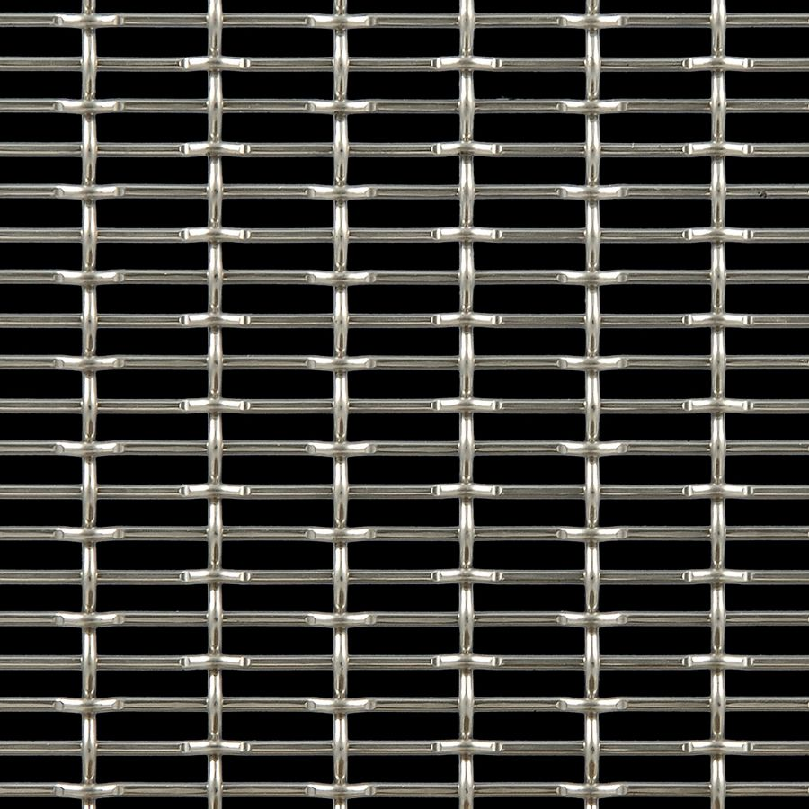 McNICHOLS® Wire Mesh Designer Mesh, CHATEAU™ 3105, Stainless Steel (SS), Type 316, Woven - Flat Top/Plain Weave, 58% Open Area