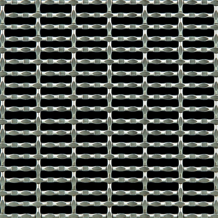 McNICHOLS® Wire Mesh Designer Mesh, CHATEAU™ 3115, Stainless Steel, Type 316, Woven - Modified Intercrimp/Plain Weave, 56% Open Area