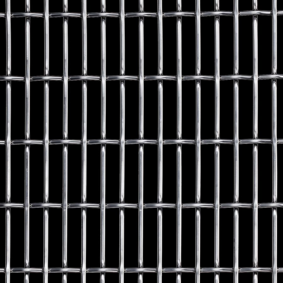 McNICHOLS® Wire Mesh Designer Mesh, CHATEAU™ 3120, Stainless Steel, Type 316, Woven - Flat Top/Plain Weave, 66% Open Area