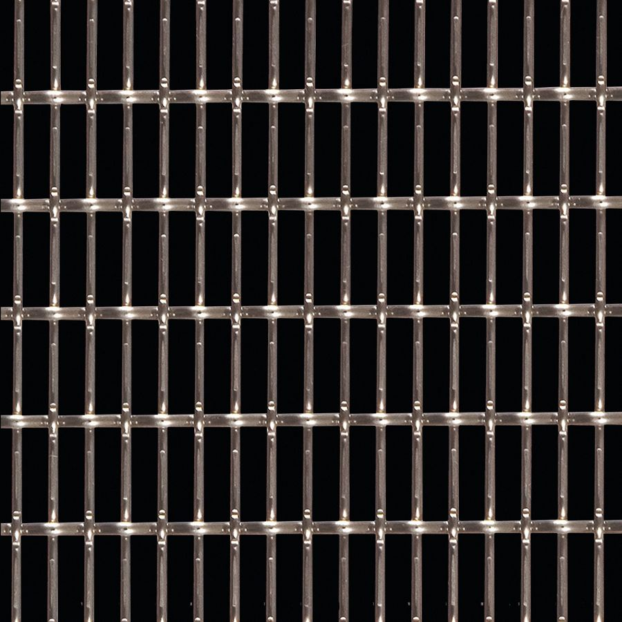 McNICHOLS® Wire Mesh Designer Mesh, CHATEAU™ 3125, Stainless Steel, Type 316, Woven - Lock Crimp/Plain Weave, 59% Open Area