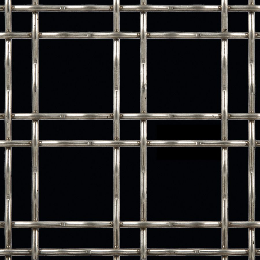 McNICHOLS® Wire Mesh Designer Mesh, TECHNA™ 3150, Stainless Steel, Type 316, Woven - Double Wire Intercrimp Weave, 74% Open Area