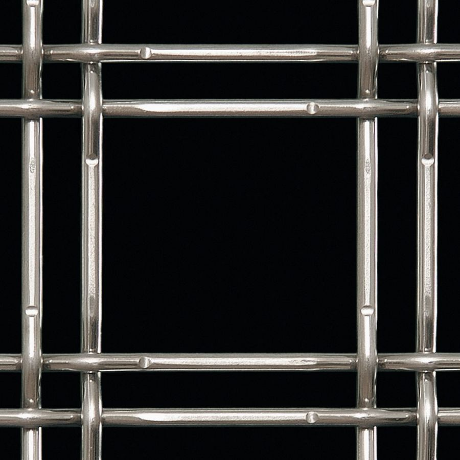 McNICHOLS® Wire Mesh Designer Mesh, TECHNA™ 3155, Stainless Steel, Type 316, Woven - Lockcrimp Weave, 75% Open Area