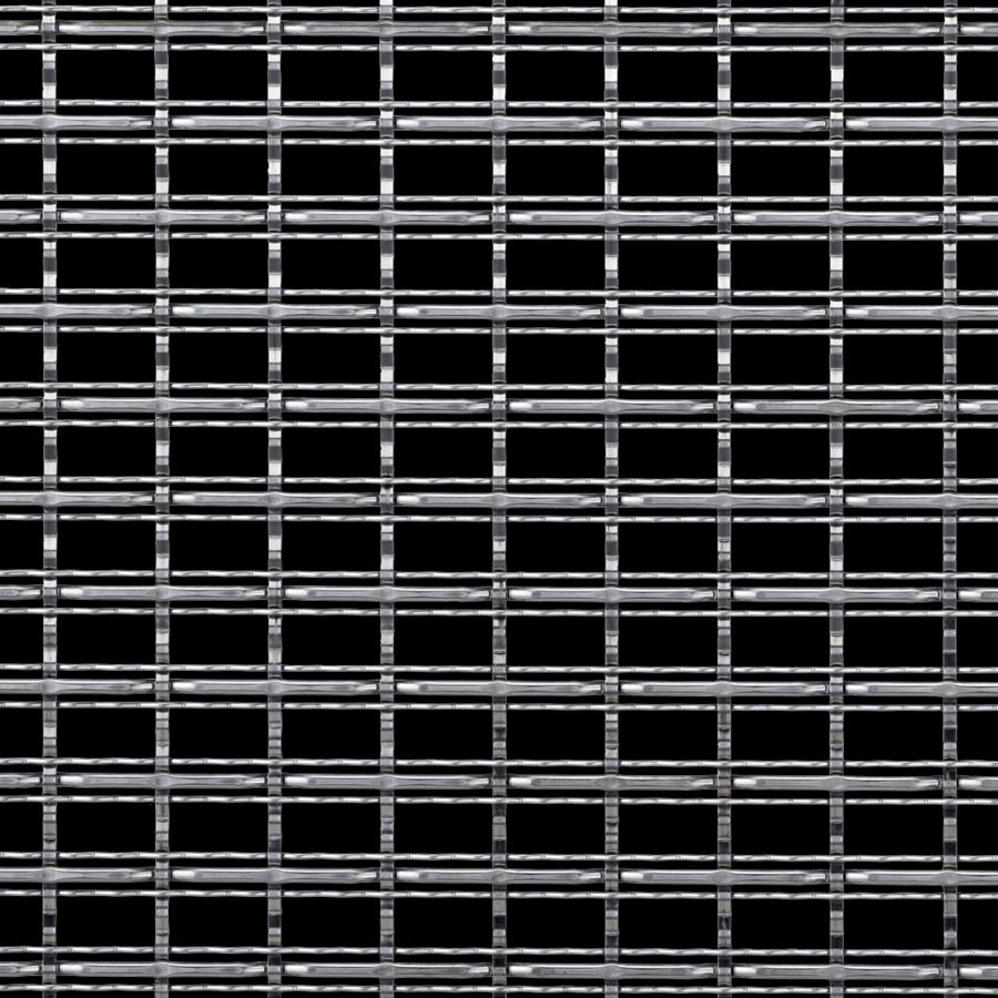 McNICHOLS® Wire Mesh Designer Mesh, TECHNA™ 3162, Stainless Steel, Type 316, Woven - Three Crimp Styles Weave, 60% Open Area