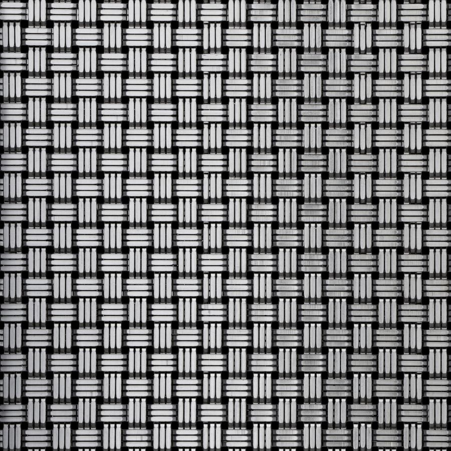 McNICHOLS® Wire Mesh Designer Mesh, SHIRE™ 3300, Stainless Steel, Type 316, Woven - Three Wire (Basket Look) Cladding Weave, 10% Open Area