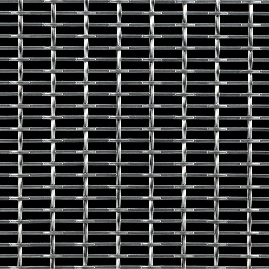 McNICHOLS® Wire Mesh Designer Mesh, SHIRE™ 4243, Stainless Steel, Type 316, Woven - Flat Top Weave, 57% Open Area