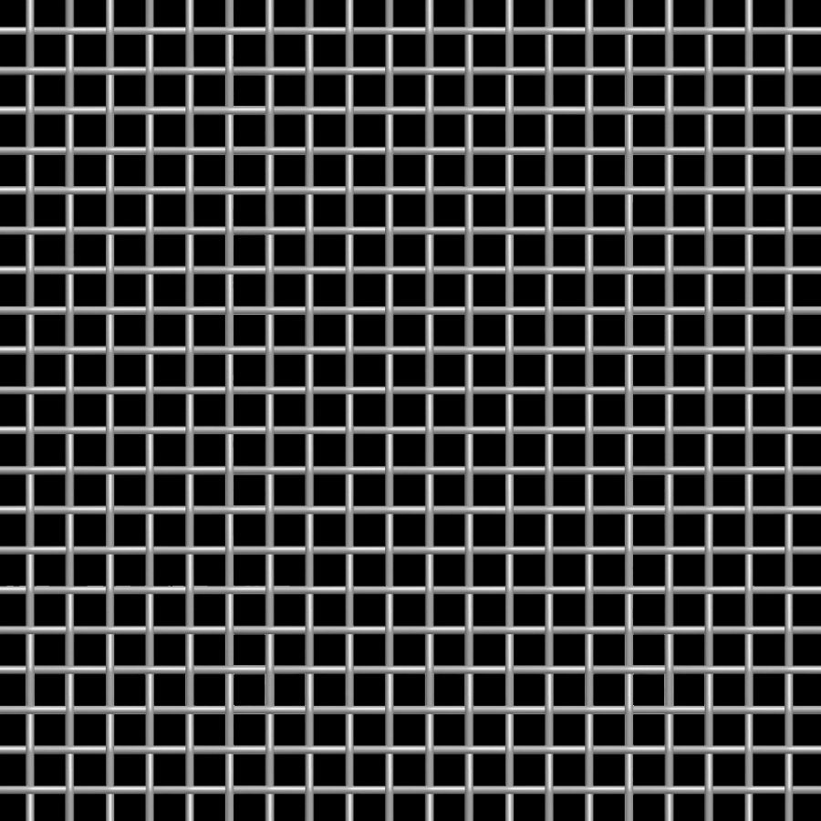 McNICHOLS® Wire Mesh Designer Mesh, TALICA™ 8124, Stainless Steel, Type 316, Woven - Triple Shute Weave, 64% Open Area