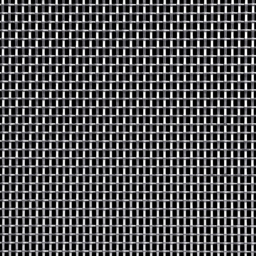 McNICHOLS® Wire Mesh Designer Mesh, SHIRE™ 8148, Stainless Steel, Type 316, Woven - Flat Warp/Round Fill Weave, 41% Open Area