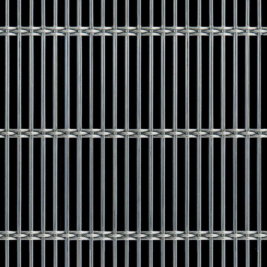 McNICHOLS® Wire Mesh Designer Mesh, AURA™ 8155, Stainless Steel, Type 316, Woven - Rigid Cable-Style Weave, 62% Open Area