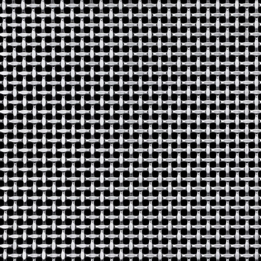 McNICHOLS® Wire Mesh Designer Mesh, TECHNA™ 8163, Stainless Steel, Type 316, Woven - Plain Weave, 37% Open Area