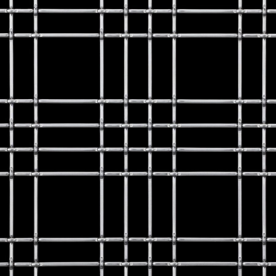 McNICHOLS® Wire Mesh Designer Mesh, TECHNA™ 8164, Stainless Steel, Type 316, Woven - Cremona-Style Weave, 77% Open Area
