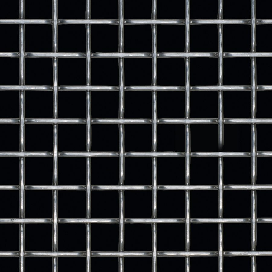 McNICHOLS® Wire Mesh Designer Mesh, TECHNA™ 8165, Stainless Steel, Type 316, Woven - Flat Top Weave, 70% Open Area