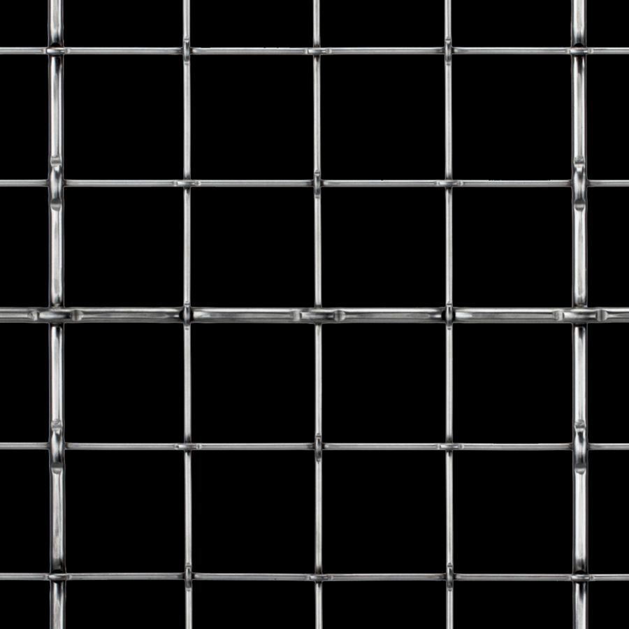 McNICHOLS® Wire Mesh Designer Mesh, TECHNA™ 8166, Stainless Steel, Type 316, Woven - Lockcrimp Weave, 85% Open Area