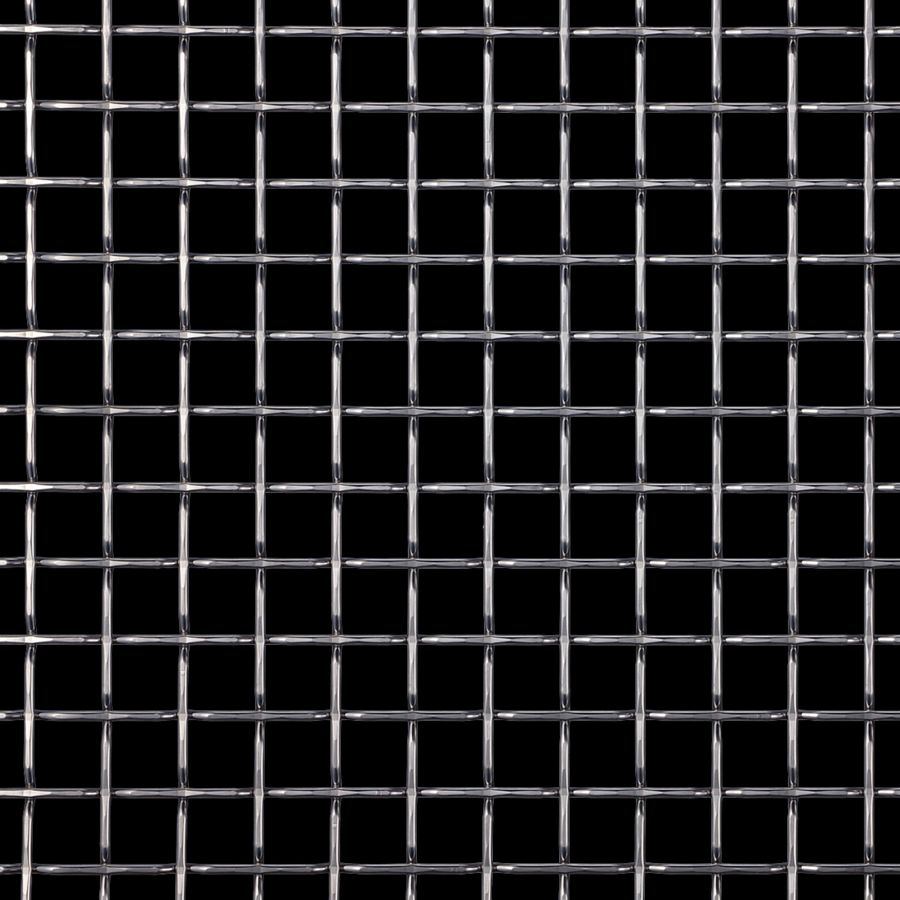 McNICHOLS® Wire Mesh Designer Mesh, TECHNA™ 8168, Stainless Steel, Type 316, Woven - Flat Top Weave, 74% Open Area