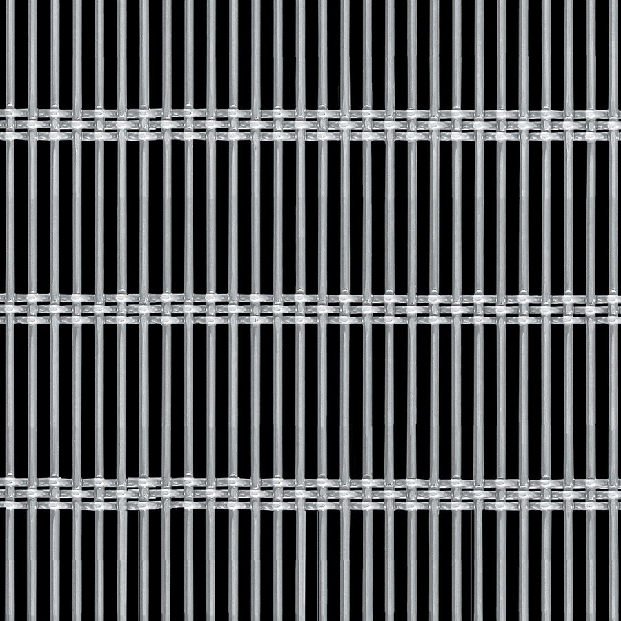 McNICHOLS® Wire Mesh Designer Mesh, AURA™ 8856, Stainless Steel, Type 316, Woven - Rigid Cable-Style Weave, 42% Open Area