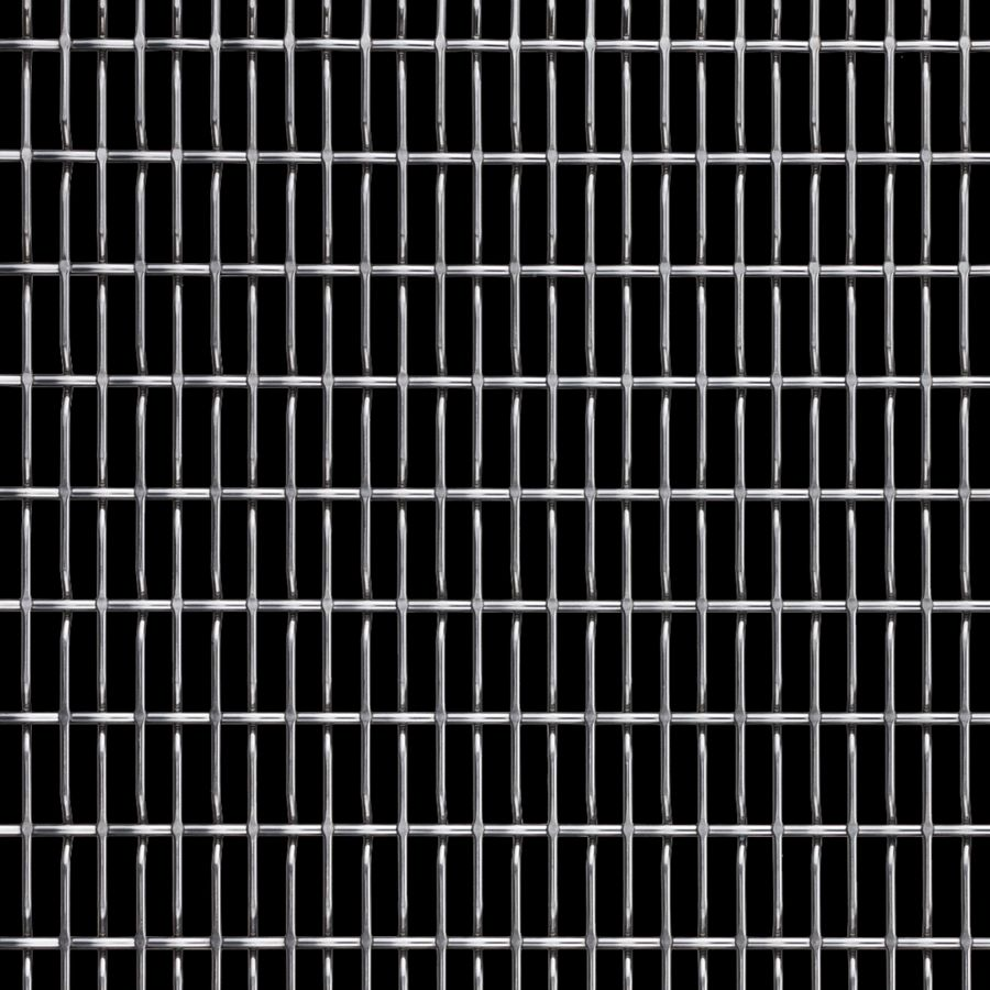 McNICHOLS® Wire Mesh Designer Mesh, CHATEAU™ 8860, Stainless Steel, Type 316, Woven - Flat Top/Plain Weave, 64% Open Area