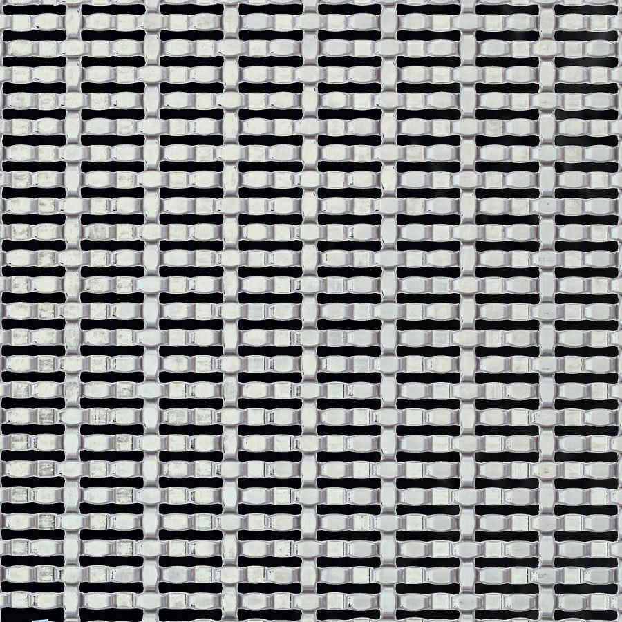 McNICHOLS® Wire Mesh Designer Mesh, CHATEAU™ 8861, Stainless Steel, Type 316, Woven - Intercrimp/Plain Weave, 27% Open Area