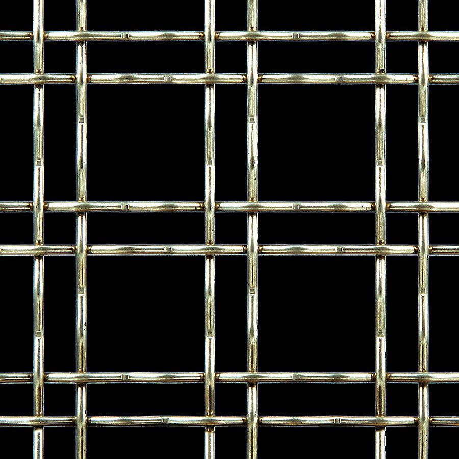 McNICHOLS® Wire Mesh Designer Mesh, TECHNA™ 3150, Galvanized Steel, Pre-Galvanized, Woven - Double Wire Intercrimp Weave, 74% Open Area