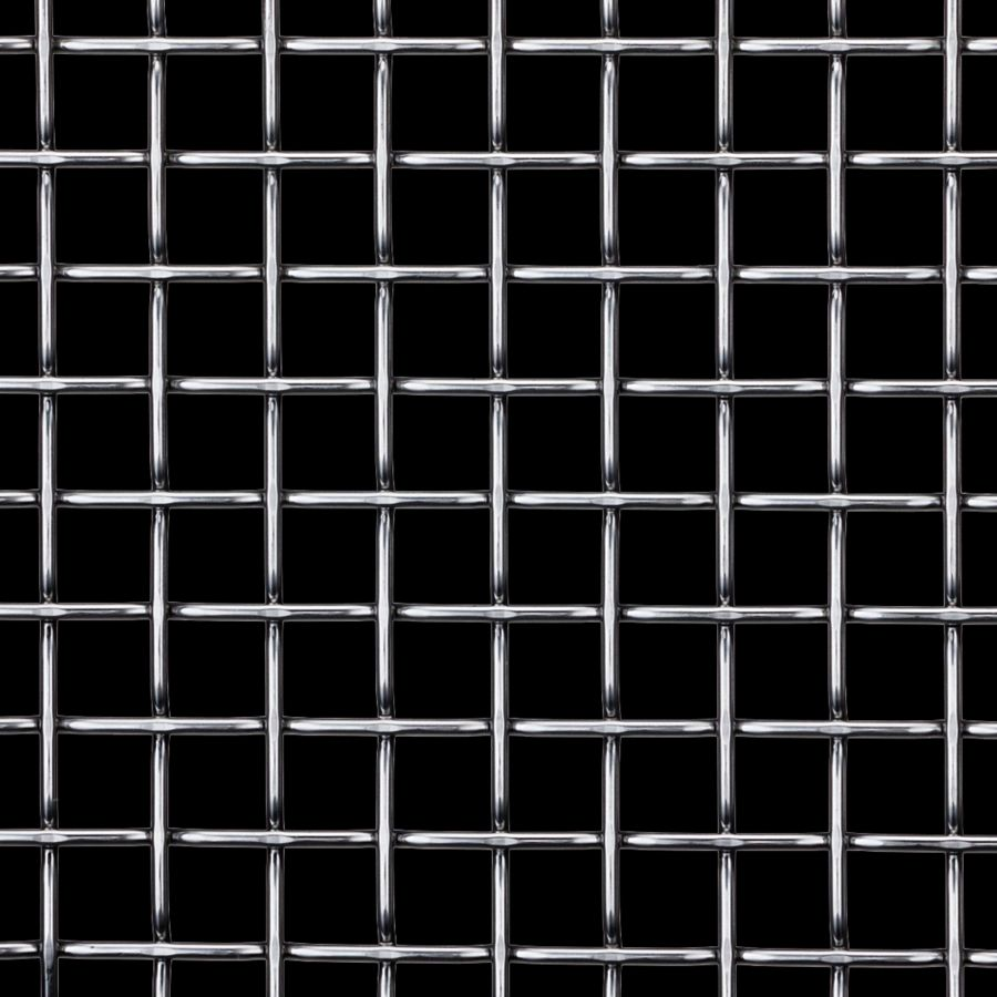 McNICHOLS® Wire Mesh Designer Mesh, TECHNA™ 8165, Galvanized, Pre-Galvanized, Woven - Flat Top Weave, 70% Open Area