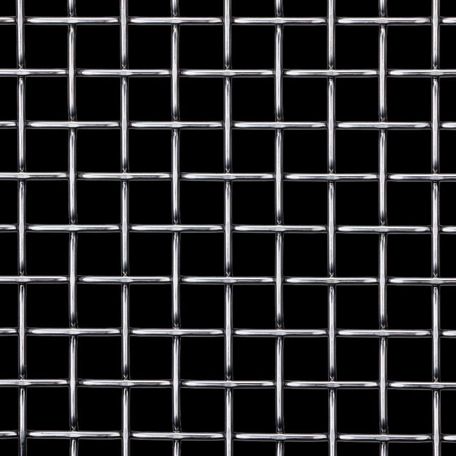 McNICHOLS® Wire Mesh Designer Mesh, TECHNA™ 8165, Galvanized Steel, Pre-Galvanized, Woven - Flat Top Weave, 70% Open Area