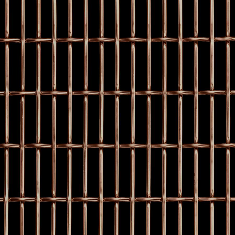 McNICHOLS® Wire Mesh Designer Mesh, CHATEAU™ 3120, Copper, Copper Alloy, Woven - Flat Top/Plain Weave, 66% Open Area