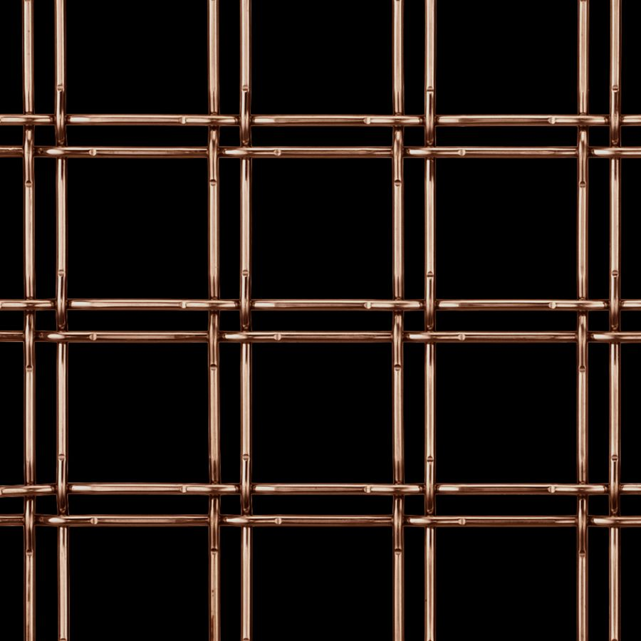 McNICHOLS® Wire Mesh Designer Mesh, TECHNA™ 3155, Copper, Copper Alloy, Woven - Lock Crimp Weave, 75% Open Area