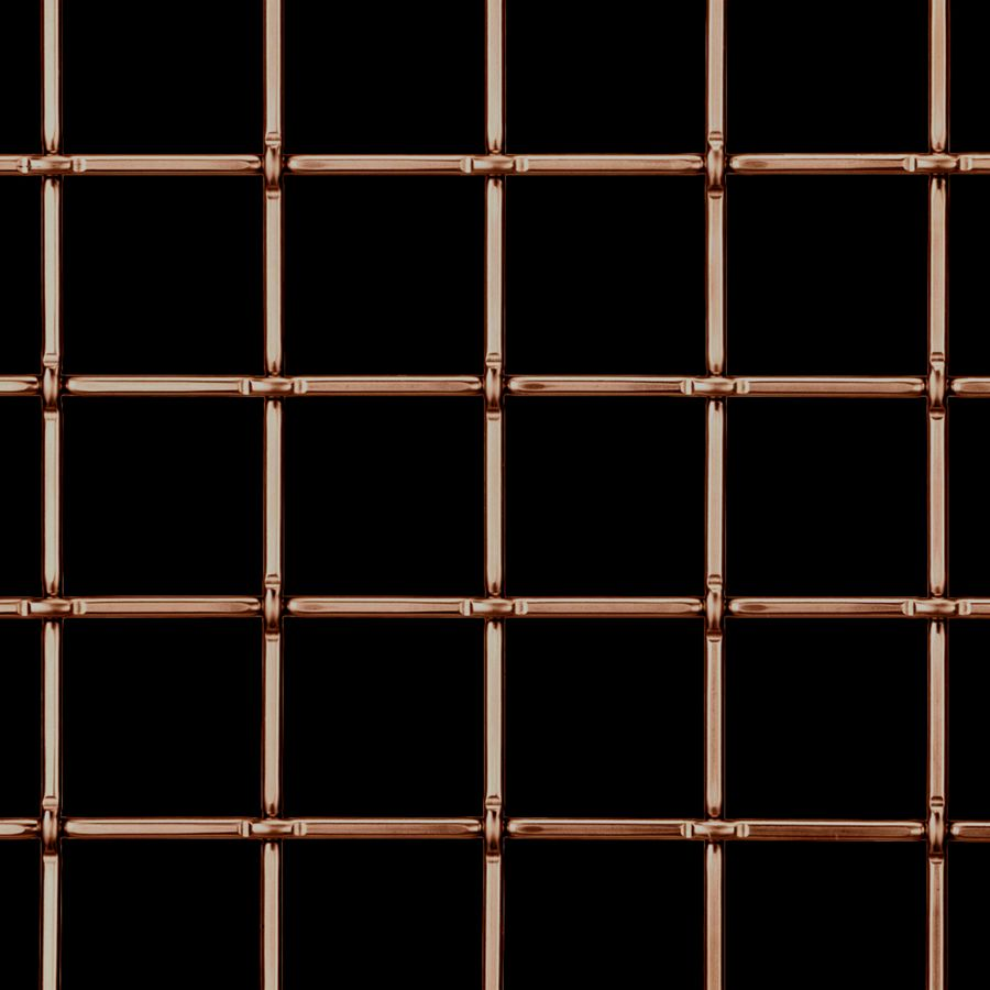 McNICHOLS® Wire Mesh Designer Mesh, TECHNA™ 8160, Copper, Copper Alloy, Woven - Lock Crimp Weave, 82% Open Area