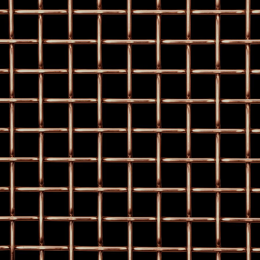 McNICHOLS® Wire Mesh Designer Mesh, TECHNA™ 8165, Copper, Copper Alloy, Woven - Flat Top Weave, 70% Open Area