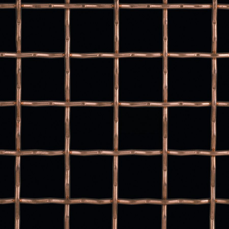 McNICHOLS® Wire Mesh Designer Mesh, TECHNA™ 8169, Copper, Copper Alloy, Woven - Intercrimp Weave, 74% Open Area