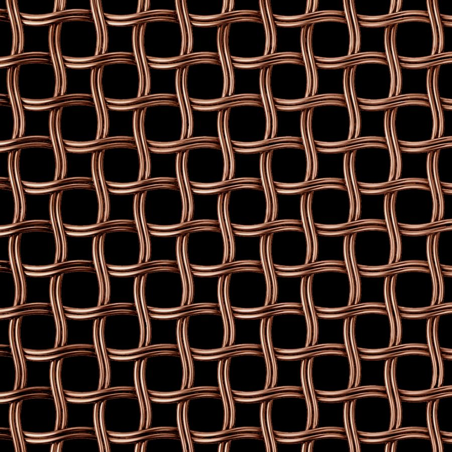 McNICHOLS® Wire Mesh Designer Mesh, HALO™ 2252, Bronze, Bronze Alloy, Woven - Helical (Spiral) Crimp Weave, 62% Open Area