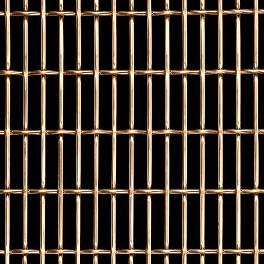 McNICHOLS® Wire Mesh Designer Mesh, CHATEAU™ 3120, Bronze (BNZ), Bronze Alloy, Woven - Flat Top/Plain Weave, 66% Open Area