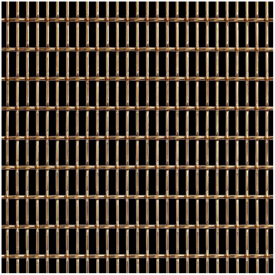 McNICHOLS® Wire Mesh Designer Mesh, CHATEAU™ 3125, Bronze, Bronze Alloy, Woven - Lock Crimp/Plain Weave, 59% Open Area