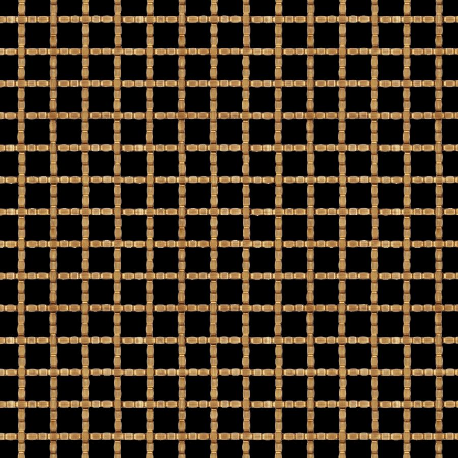 McNICHOLS® Wire Mesh Designer Mesh, TECHNA™ 8159, Bronze (BNZ), Bronze Alloy, Woven - Intercrimp Weave, 63% Open Area