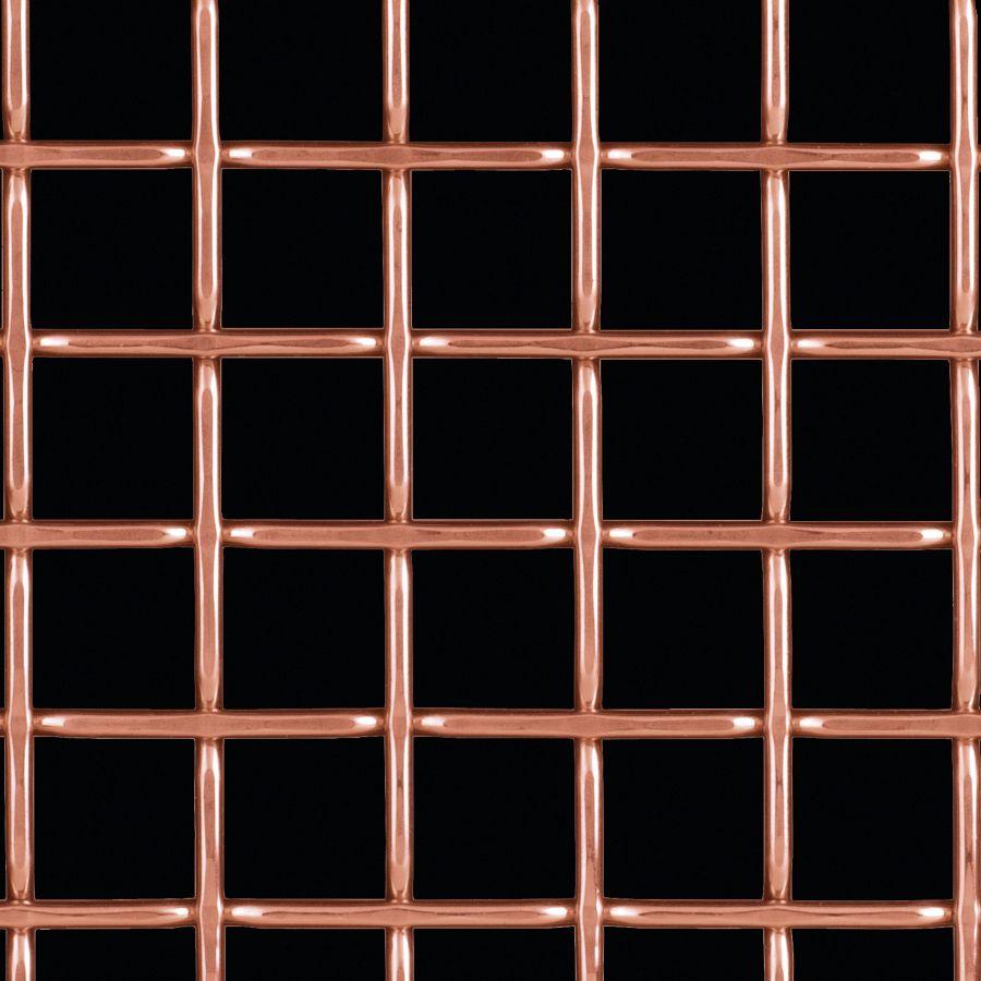 McNICHOLS® Wire Mesh Designer Mesh, TECHNA™ 8168, Bronze, Bronze Alloy, Woven - Flat Top Weave, 74% Open Area