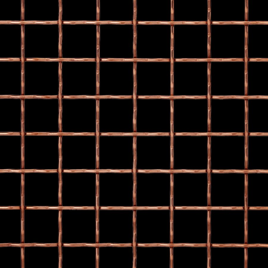 McNICHOLS® Wire Mesh Designer Mesh, TECHNA™ 8169, Bronze, Bronze Alloy, Woven - Intercrimp Weave, 74% Open Area