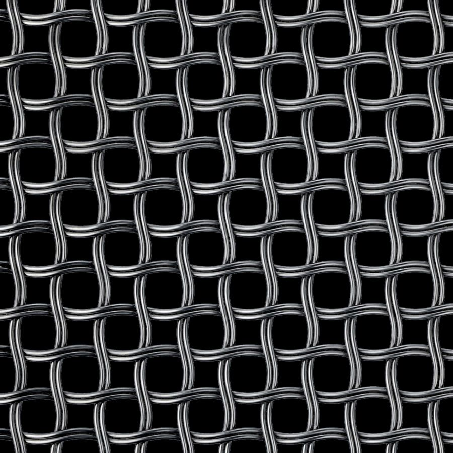 McNICHOLS® Wire Mesh Designer Mesh, HALO™ 2252, Carbon Steel, Cold Rolled, Woven - Helical (Spiral) Crimp Weave, 52% Open Area