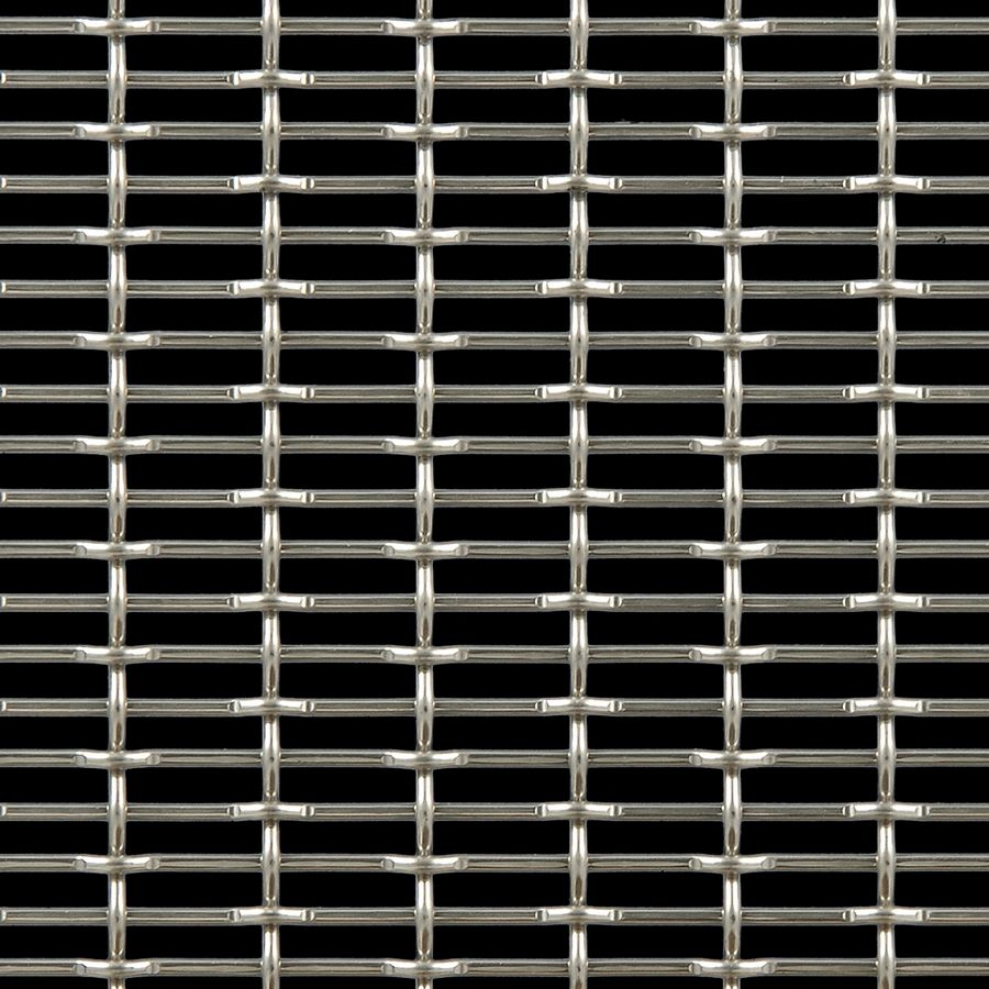 McNICHOLS® Wire Mesh Designer Mesh, CHATEAU™ 3105, Carbon Steel, Cold Rolled, Woven - Flat Top/Plain Weave, 58% Open Area