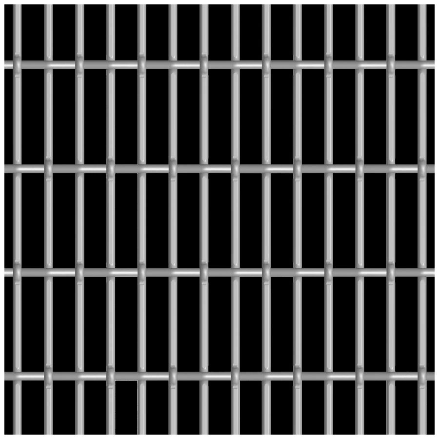 McNICHOLS® Wire Mesh Designer Mesh, CHATEAU™ 3110, Carbon Steel, Cold Rolled, Woven - Lockcrimp/Plain Weave, 67% Open Area