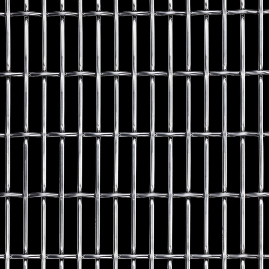 McNICHOLS® Wire Mesh Designer Mesh, CHATEAU™ 3120, Carbon Steel, Cold Rolled, Woven - Flat Top/Plain Weave, 66% Open Area