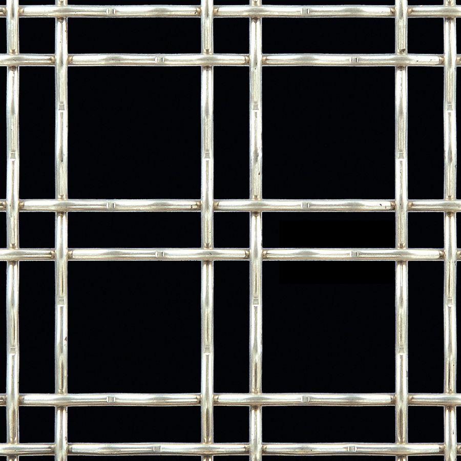 McNICHOLS® Wire Mesh Designer Mesh, TECHNA™ 3150, Carbon Steel, Cold Rolled, Woven - Double Wire Intercrimp Weave, 74% Open Area