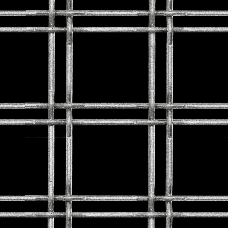 McNICHOLS® Wire Mesh Designer Mesh, TECHNA™ 3155, Carbon Steel, Cold Rolled, Woven - Lock Crimp Weave, 75% Open Area