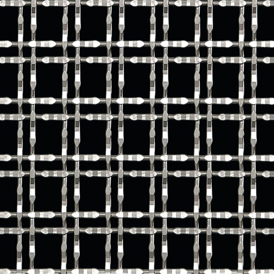 McNICHOLS® Wire Mesh Designer Mesh, TALICA™ 8146, Carbon Steel, Cold Rolled, Woven - Twin Wire Flat Top Weave, 61% Open Area