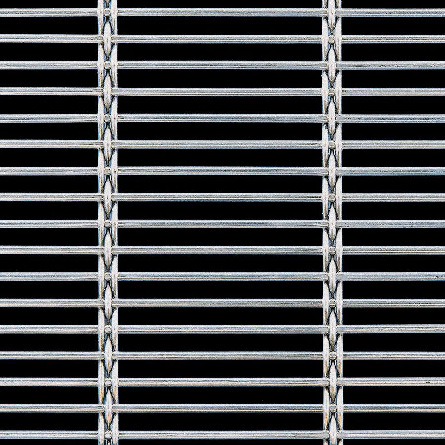 McNICHOLS® Wire Mesh Designer Mesh, AURA™ 8155, Carbon Steel (CS), Cold Rolled, Woven - Rigid Cable-Style Weave, 62% Open Area