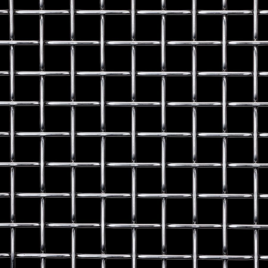 McNICHOLS® Wire Mesh Designer Mesh, TECHNA™ 8165, Carbon Steel, Cold Rolled, Woven - Flat Top Weave, 70% Open Area